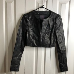 3/$15 XXI size SP black bolero Moto vegan jacket